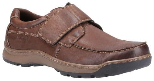 Hush Puppies Casper Touch Fastening Mens Shoes Brown